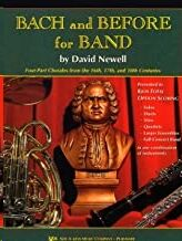 Clarinete Newell Kjos Music W34cl. Bach And Before For Band (S.xvi-Xvii-Xviii)