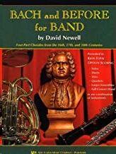 Trombon(Bombardino/Fagot) Newell Kjos Music W34bc. Bach And Before For Band (S.xvi-Xvii-Xviii)