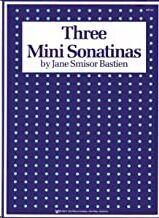 Piano Bastien Kjos Music Wp139. 3 Minisonatinas (Introducción A La Forma De Sonatina) (9780849752537