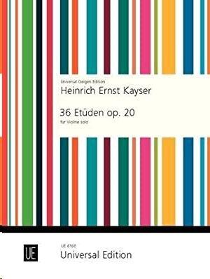 KAYSER 36 ETUDEN OP20 S.Vln op. 20
