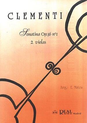 Sonatina Op.36 No.1, para 2 Violas