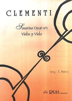 Sonatina Op.36 No.1, para Violín y Viola