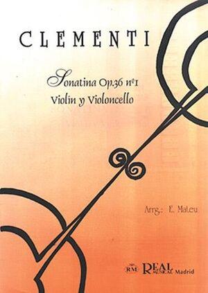 Sonatina Op.36 No.1, para Violín y Violoncello
