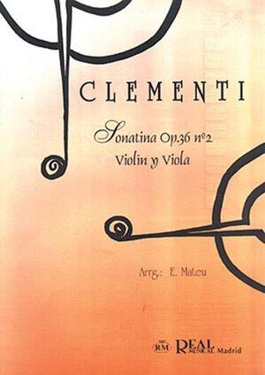Sonatina Op.36 No.2, para Violín y Viola
