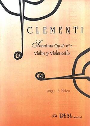 Sonatina Op.36 No.2, para Violín y Violoncello