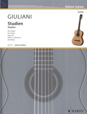 Studies for Guitar op. 1b Heft 2