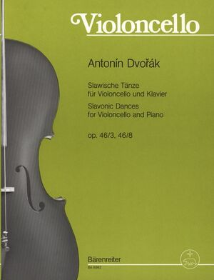 Slavonic Dances for Cello and Piano op. 46/3, 46/8