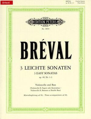 3 leichte Sonaten für Violoncello und Bass op. 40/1-3