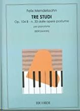 3 Studi Op. 104 B - N. 33 Delle Opere Postume
