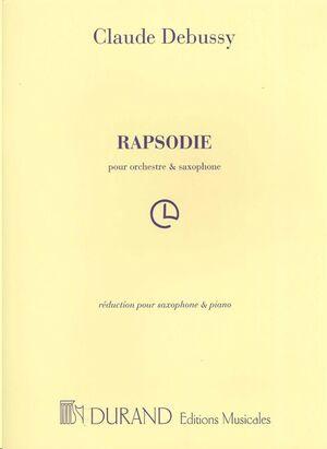 Rapsodie - R'duction Pour Saxophone Et Piano
