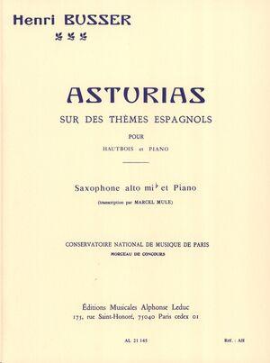 Asturias on Spanish tunes, Op. 84