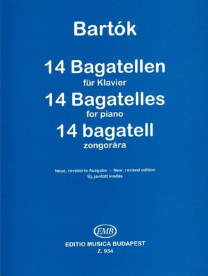 14 Bagatellen fr Klavier op. 6 Piano