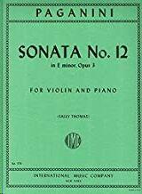 Sonata No.12 E minor op.3 VIOLIN PIANO