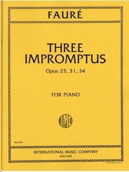 Three Impromptus op.25, 31 & 34