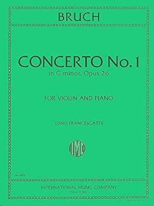 Concerto No.1 G minor op.26 FOR VIOLIN AND PIANO