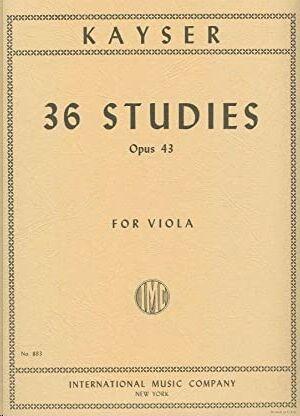 36 Studies op.43 FOR VIOLA