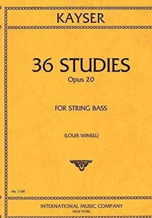 36 STUDIES Op.20 FOR STRING BASS