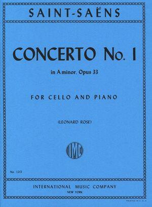CELLO CONCERTO No.1 A Minor Op.33 CELLO PIANO