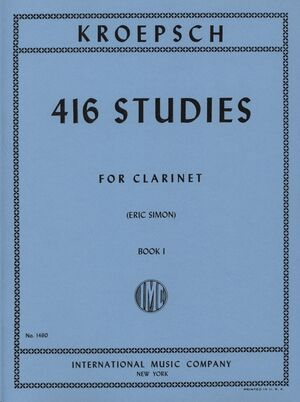 416 Studies Volume 1 FOR CLARINET