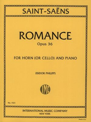 ROMANCE Vc (Hn) Pft Op.36