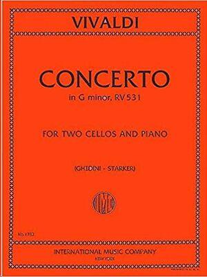 CONCERTO Gmin RV 531 2Vc Pft FOR TWO CELLOS AND PIANO