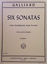 Six Sonatas Volume 2 Vol. 2 for trombone and piano