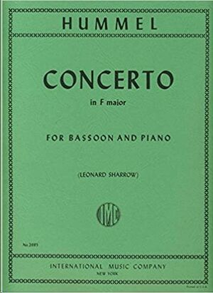 Concerto F major FOR BASSOON AND PIANO