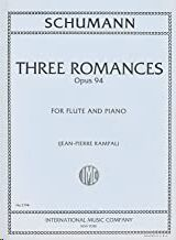THREE ROMANCES Op94 FOR FLUTE AND PIANO