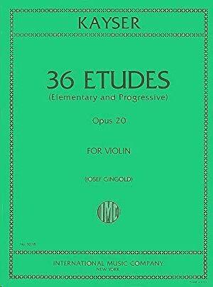 36 Studies op.20 FOR VIOLIN